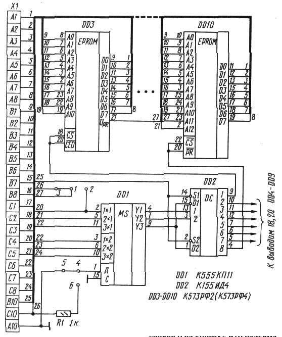Принципиальная схема ПЗУ-диска