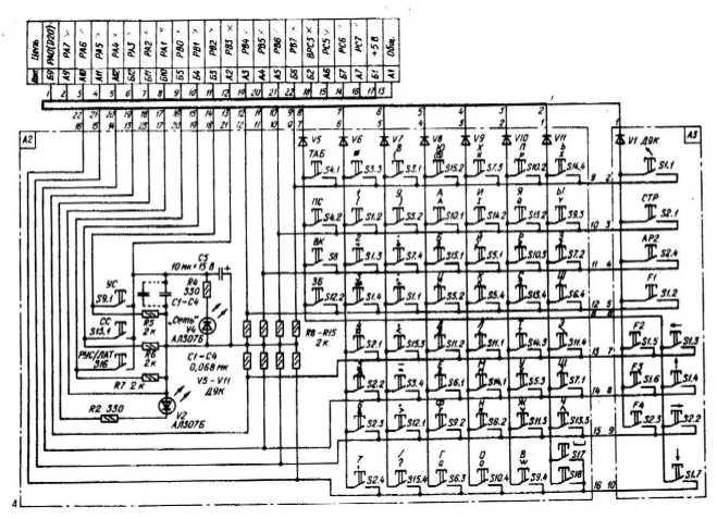схема клавиатуры.